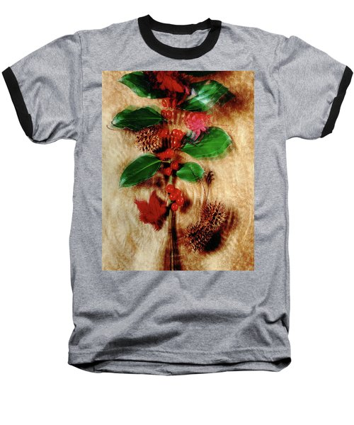 Red Holly Spinning Baseball T-Shirt