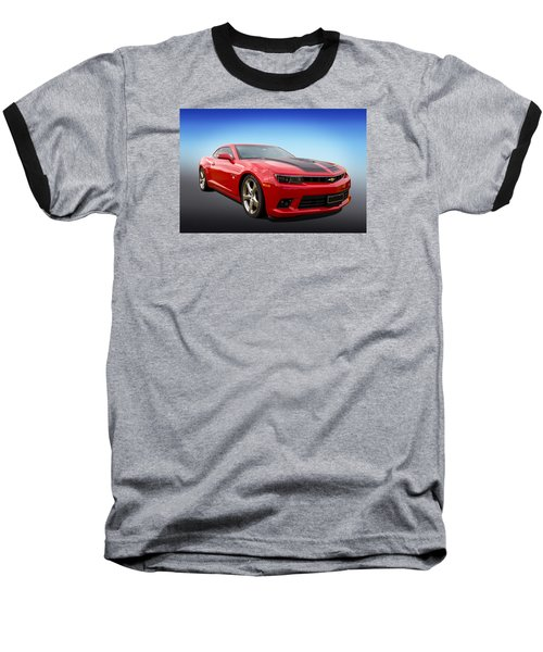 Baseball T-Shirt featuring the photograph Red Hot Camaro by Keith Hawley