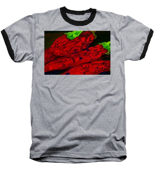 Red Hot Chili 2 Baseball T-Shirt by Stephen Anderson