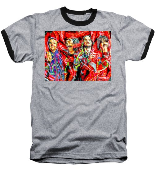 Red Hot Chili Peppers In Color II  Baseball T-Shirt by Daniel Janda