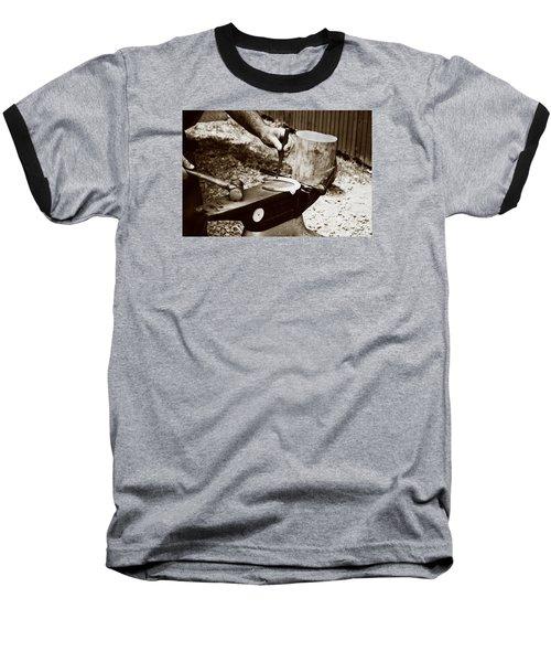 Red Hot Horseshoe On Anvil Baseball T-Shirt