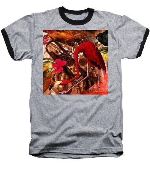 Red Hot Soul Music Baseball T-Shirt by Joseph Mosley