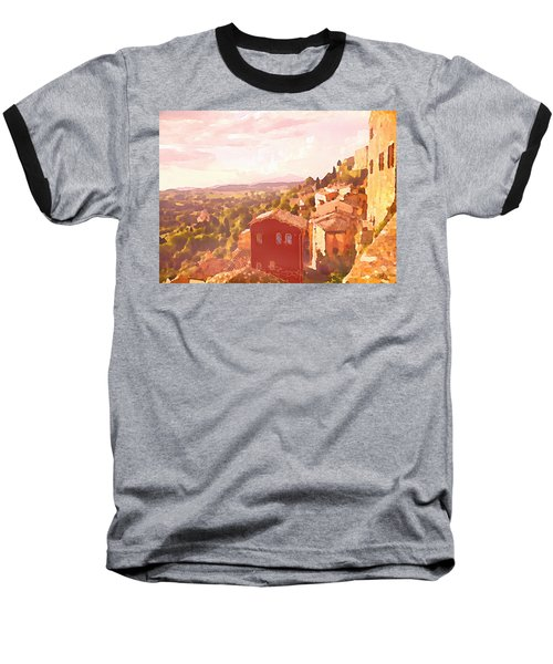 Red House On A Hill Baseball T-Shirt