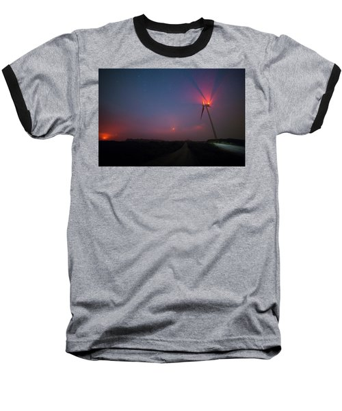 Baseball T-Shirt featuring the photograph Red In The Night by Bruno Rosa