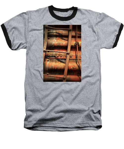 Baseball T-Shirt featuring the photograph Red Ladder by Newel Hunter