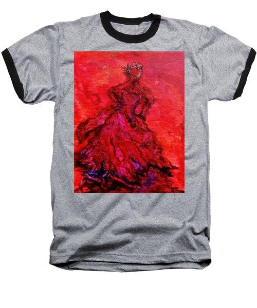 Red Lady Baseball T-Shirt