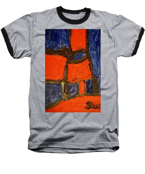 Baseball T-Shirt featuring the painting Red Lamps by Shea Holliman