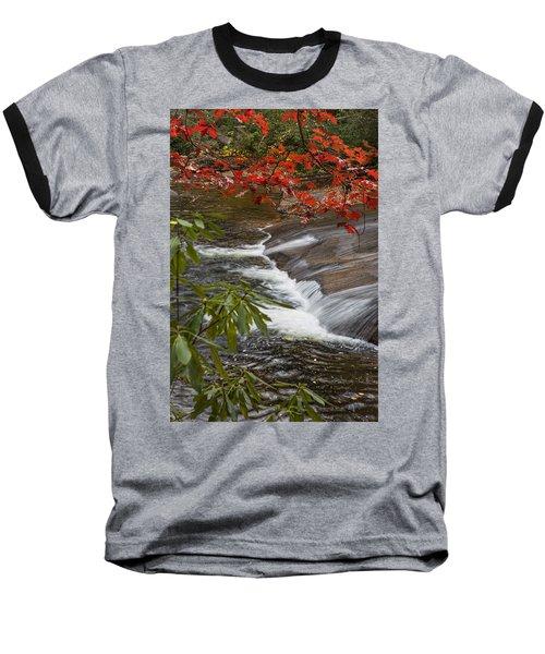 Red Leaf Falls Baseball T-Shirt