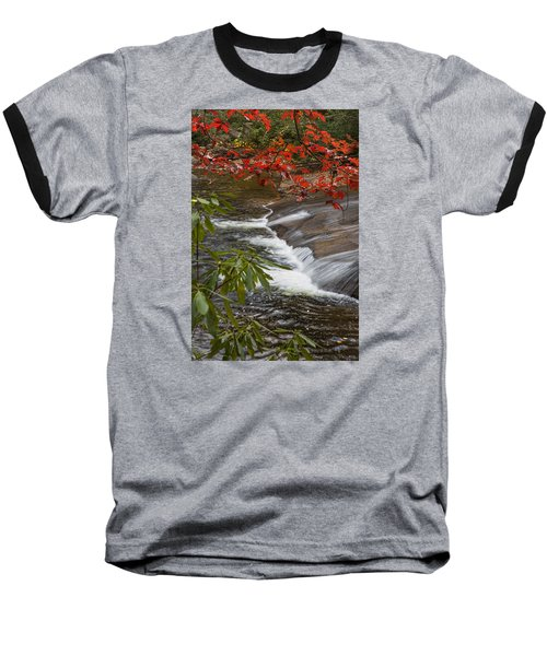 Red Leaf Falls Baseball T-Shirt