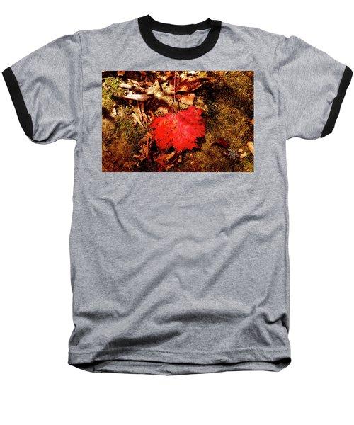 Baseball T-Shirt featuring the photograph Red Leaf by Meta Gatschenberger