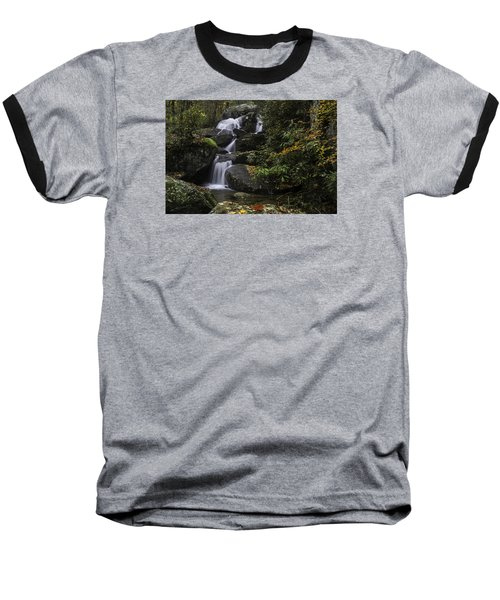 Red Leaf Waterfalls Baseball T-Shirt