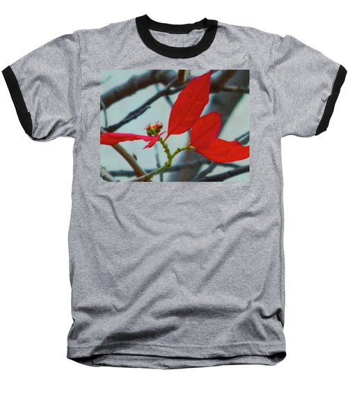 Red Leaves Baseball T-Shirt
