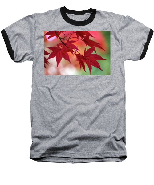 Baseball T-Shirt featuring the photograph Red Leaves by Clare Bambers