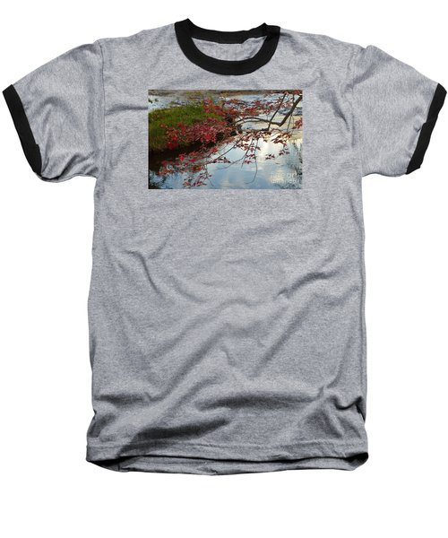 Red Leaves In Falls Park Creek Baseball T-Shirt