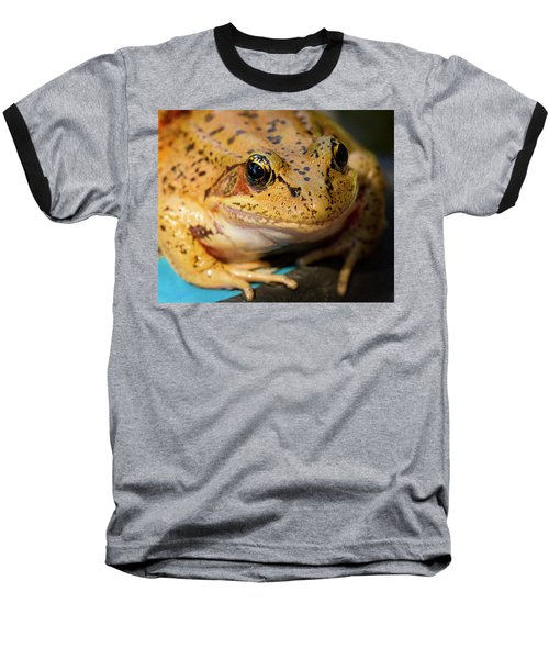 Baseball T-Shirt featuring the photograph Red Leg Frog by Jean Noren
