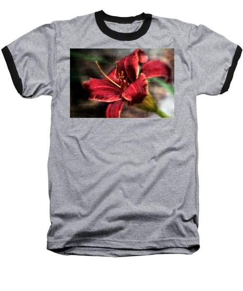 Baseball T-Shirt featuring the photograph Red Lilly by Michaela Preston