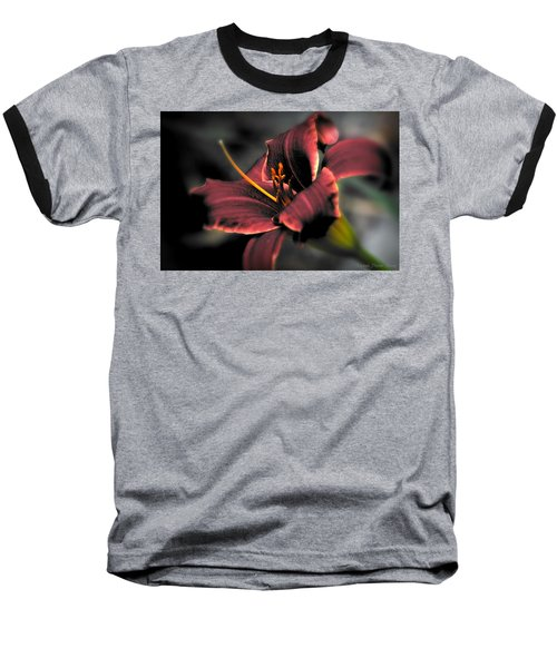 Red Lilly2 Baseball T-Shirt