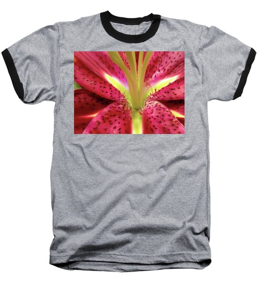 Red Lily Closeup Baseball T-Shirt
