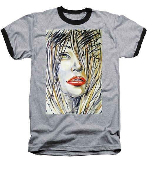 Red Lipstick 081208 Baseball T-Shirt by Selena Boron