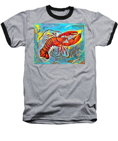 Red Lobster Abstract  Baseball T-Shirt by Scott D Van Osdol