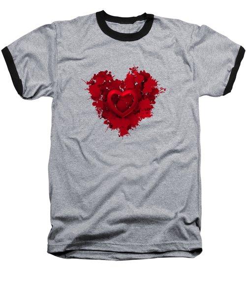 Red Love 1 Baseball T-Shirt