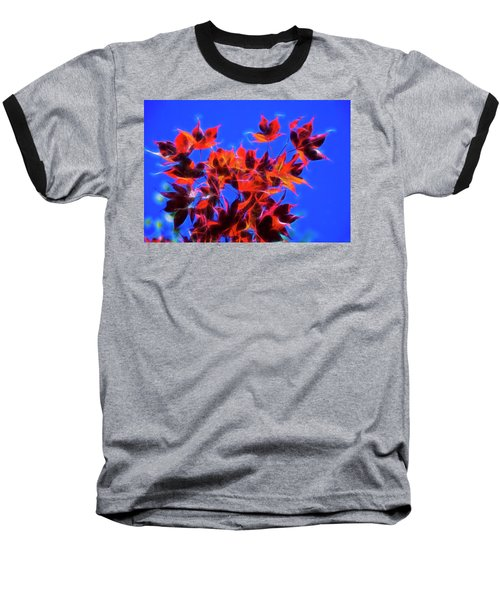 Baseball T-Shirt featuring the photograph Red Maple Leaves by Yulia Kazansky