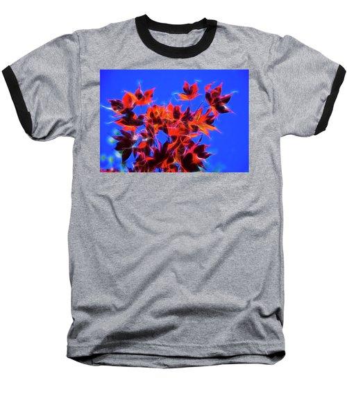Red Maple Leaves Baseball T-Shirt