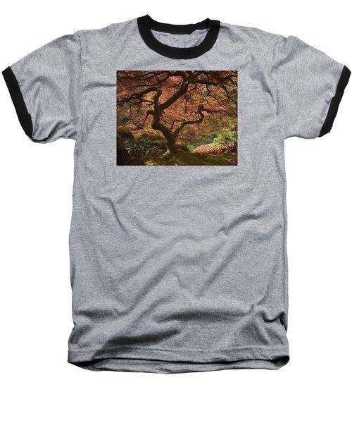 Red Maple Tree Baseball T-Shirt