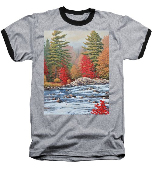 Red Maples, White Water Baseball T-Shirt