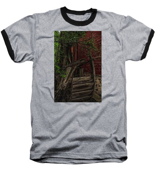 Baseball T-Shirt featuring the photograph Red Mill Decayed Wheel by Trey Foerster