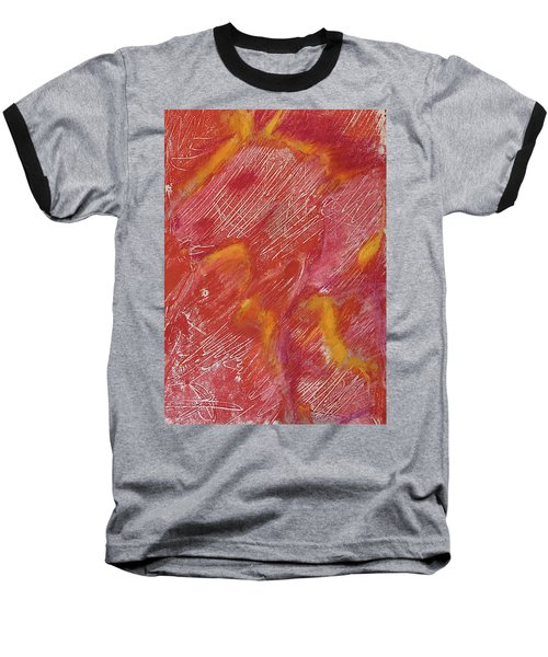 Red Monoprint One Baseball T-Shirt