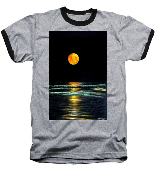 Red Moon Rising Baseball T-Shirt