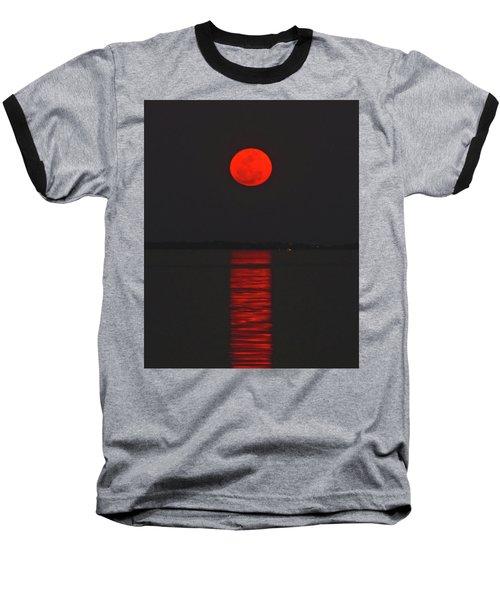 Red Moon Rising  Baseball T-Shirt