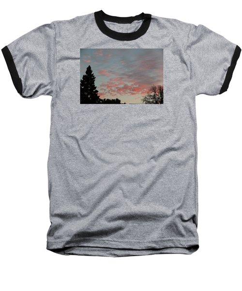 Red Morning Cloud 2 Baseball T-Shirt by Yumi Johnson