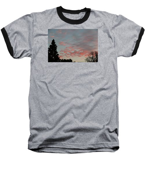 Red Morning Cloud 2 Baseball T-Shirt
