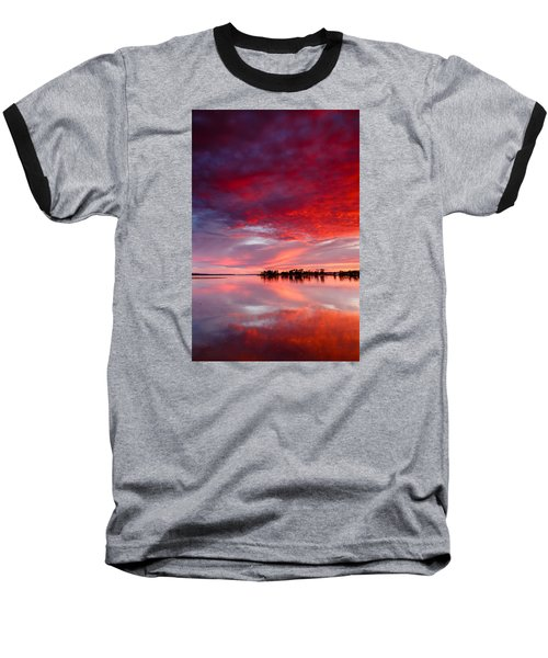 Red Morning Baseball T-Shirt
