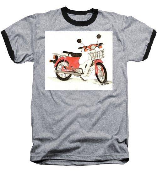 Red Motor Bike Baseball T-Shirt