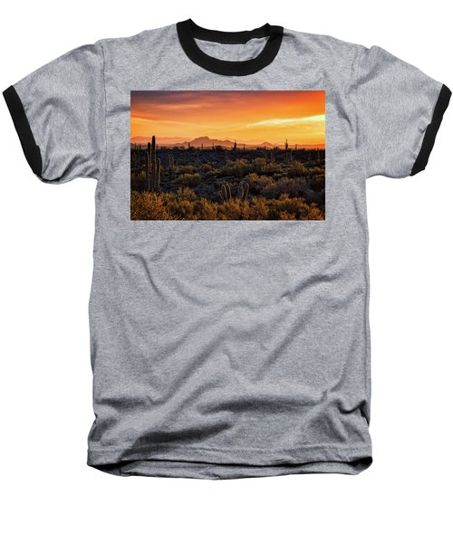 Baseball T-Shirt featuring the photograph Red Mountain Sunset Part Two  by Saija Lehtonen