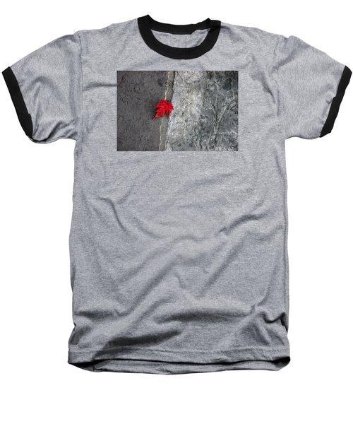 Red On Gray Baseball T-Shirt