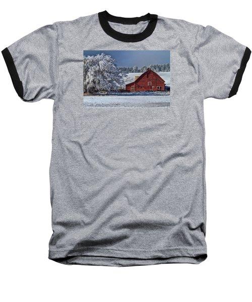 Red On White Baseball T-Shirt