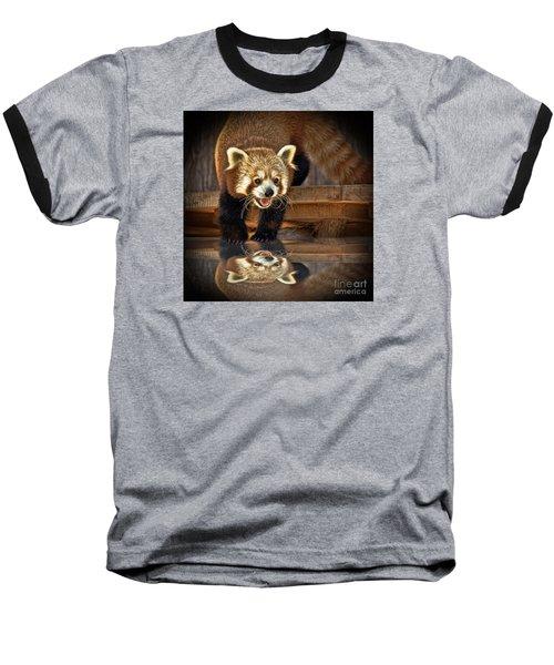 Red Panda Altered Version Baseball T-Shirt by Jim Fitzpatrick