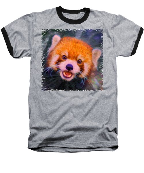 Red Panda Cub Baseball T-Shirt