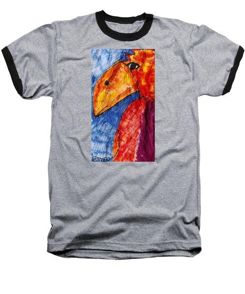 Red Parrot Baseball T-Shirt