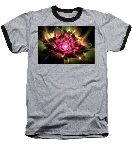 Baseball T-Shirt featuring the digital art Red Peony by Svetlana Nikolova