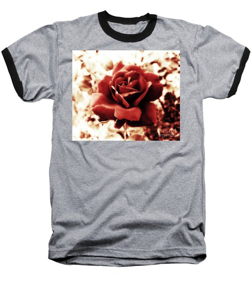 Red Petals Baseball T-Shirt