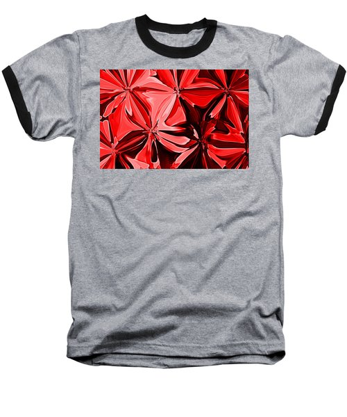 Red Pinched And Gathered Baseball T-Shirt