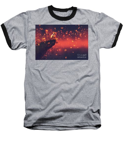 Red Planet Baseball T-Shirt