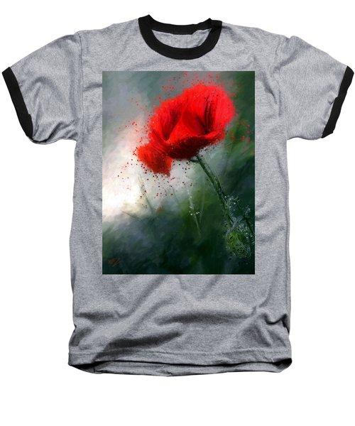 Red Poppy Baseball T-Shirt