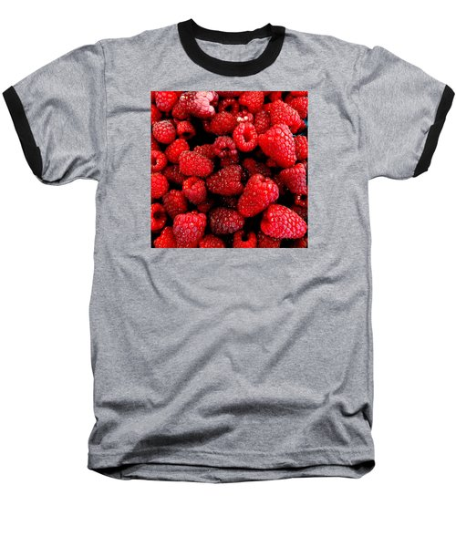 Red Raspberries Baseball T-Shirt