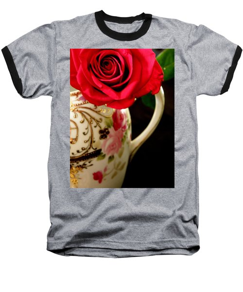 Red Red Rose Baseball T-Shirt by Lainie Wrightson